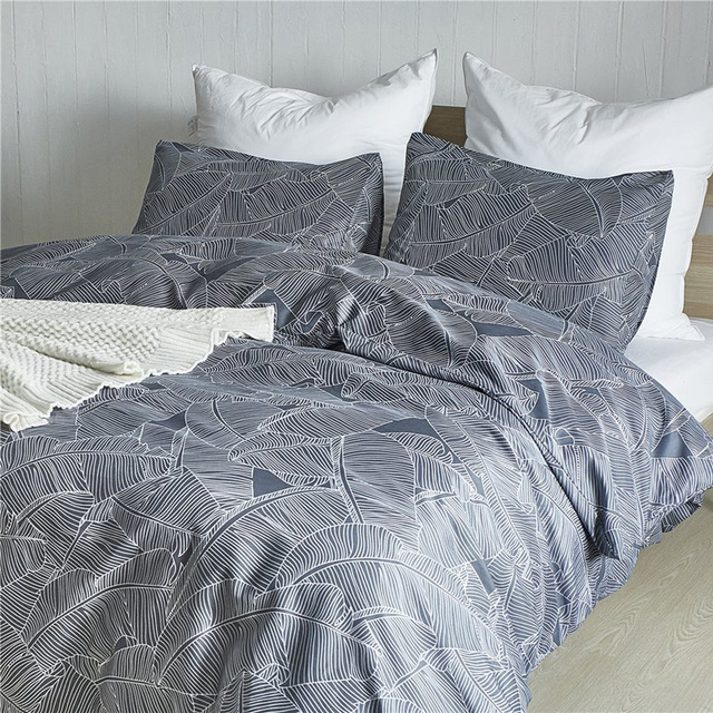 Single Double Bedding Sets Russia Europe 14 Size Luxury Duvet Cover Set 240/220 Queen King Bed Linen Set Bed clothes Leaf
