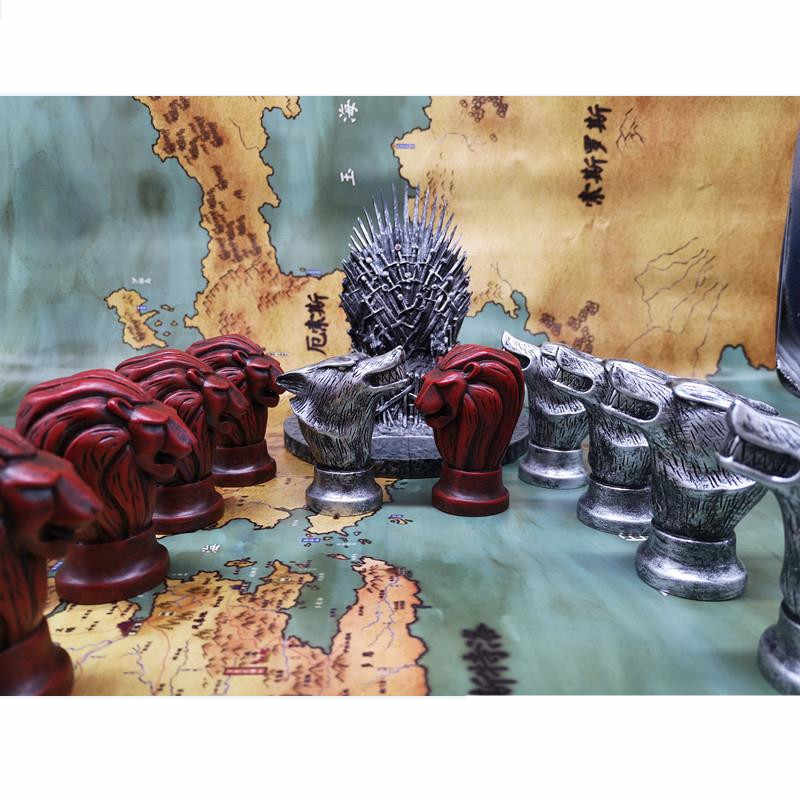 Game of Thrones Cosplay Accessories Stark Direwolf Lannister Lion War Chess Kids Adult Board Game Party Resin Toy Decoration New