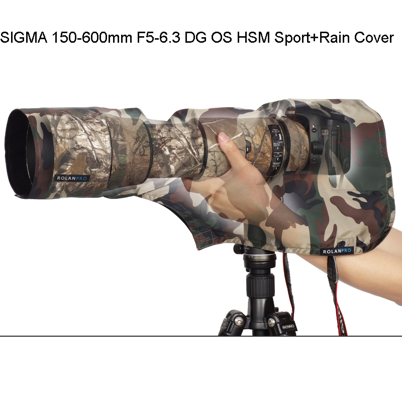 Camera/video Bags Accessories & Parts Rolanpro Rain Cover Raincoat For M Size For Sigma 150-600mm F5-6.3 Dg Os Hsm Sports Telephoto Lens Army Green Camouflage Without Return