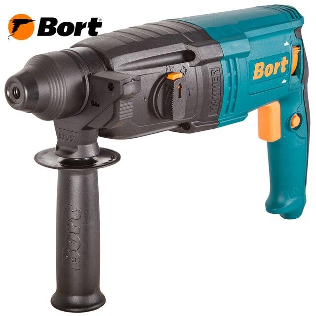 Перфоратор электрический Bort BHD-920X (Мощность 920 Вт, энергия удара 3.5 Дж, 3 режима: сверление/сверление с ударом/долбление, скорость вращения 900 об/мин, частота ударов 5000 об/мин, реверс)