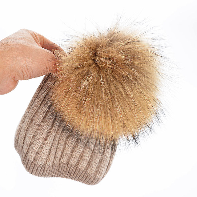 wholesale Rabbit hair ball fleece Knitted wool hats for women good quality Autumn And Winter Keep warm cap Skullies & Beanies