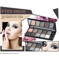 New 10 Warm Colors Pigment Matte Shimmer Eyeshadow Palette Makeup Eye Shadow Set