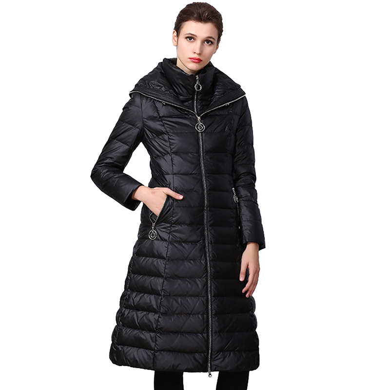Winter   Down     Coat   Women High quality Thick Warm Parkas Hooded Tops Plus size 90% White duck   down   Jacket Long   Coats   Female 2298