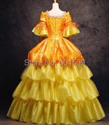 vestido ouro bordados medieval renascenca vestido de 01
