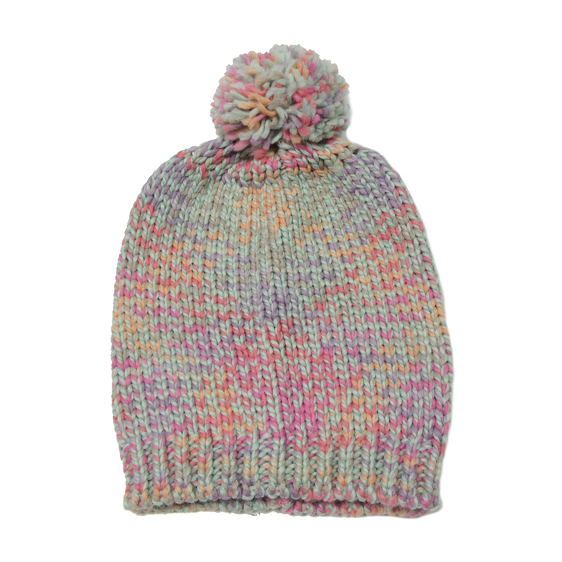 Pleteni zimski klobuk za ženske Pompom Ball Cute Baby Beauns Island - Oblačilni dodatki - Fotografija 2