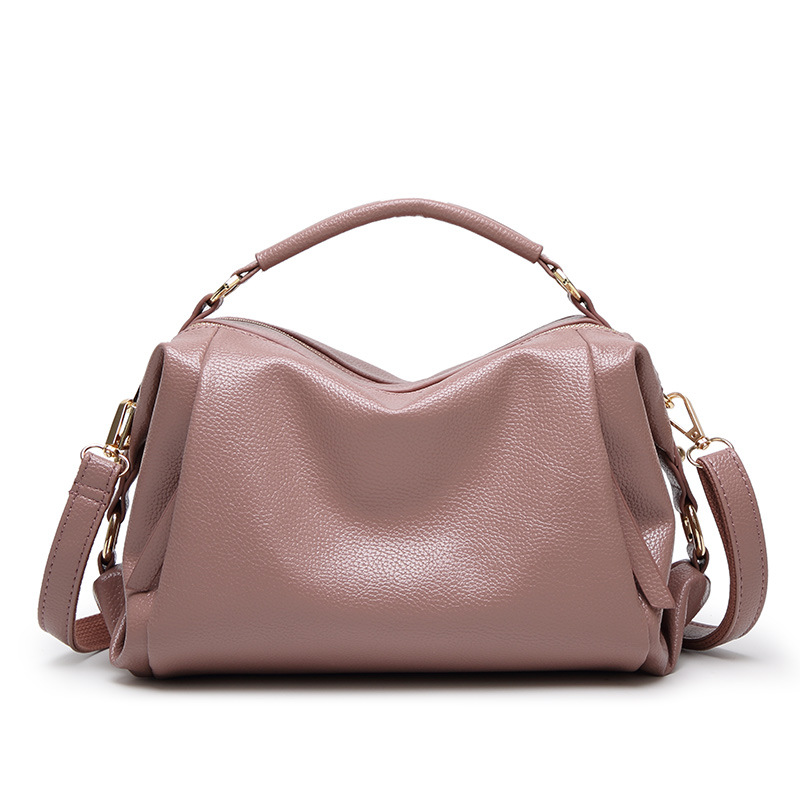 Bags Women Shoulder Handbags 2017 New Woman Handbag Casual Pink Pu Leather For Small Hobos Bag Bolsa Sac In Top Handle From