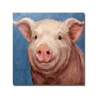 الخنزير الجدار قماش الفن لا مؤطرة و مع مؤطر الحيوان النفط اللوحة الجملة للبيع اليد رسمت اللوحة ديكور المنزل