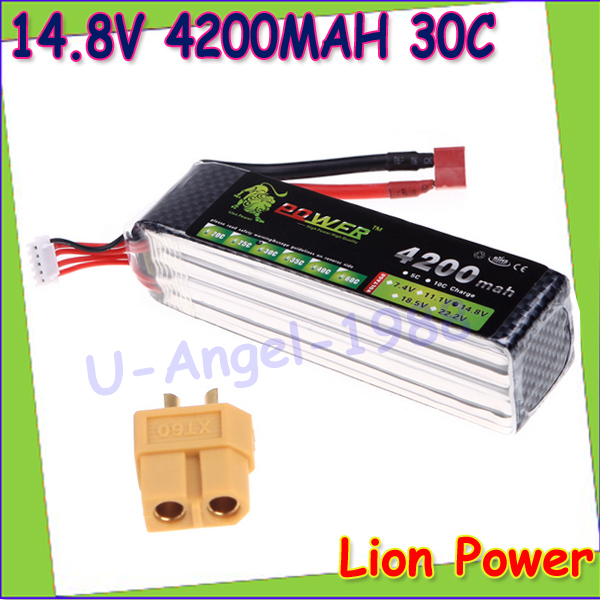 1pcs 100 Original Lion Power Lipo Battery 14 8V 4200mAh 30C MAX 45C for RC Car