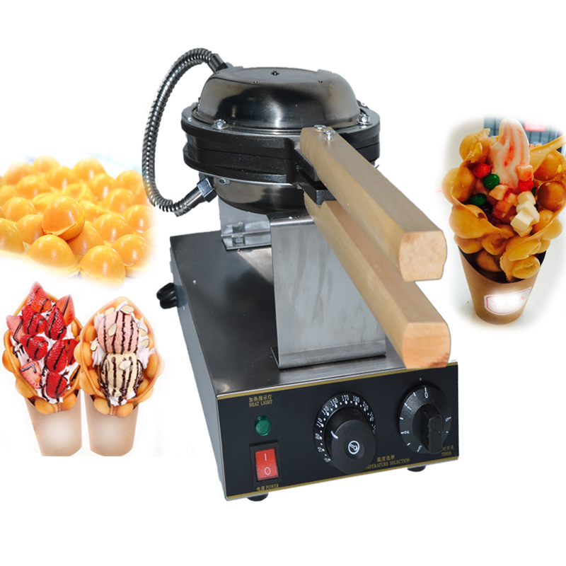FY-6 110/220V Egg puff machine egg waffle makers,egg waffle iron,Bubble Waffle wafer machine,Electric Eggettes Egg Waffle Maker 110v 220v electric non stick hongkong eggettes egg puff bubble waffle egg waffle maker rotated 180 degree