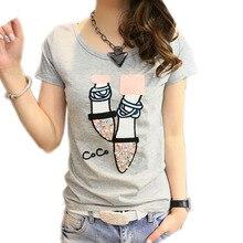 T shirt women t-shirt cotton kawaii tee shirt femme casual summer tshirt women tops 2017 slim camiseta femenina poleras de mujer