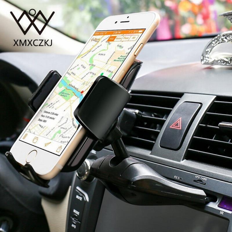 XMXCZKJ Magnetic Mount <font><b>Holder</b></font> <font><b>Phone</b></font> Universal <font><b>Car</b></font> <font><b>CD</b></font> Dash <font><b>Slot</b></font> <font><b>Holder</b></font> 360 Degree For Iphoen X 8 Xiaomi Smartphone <font><b>Holder</b></font> 2style