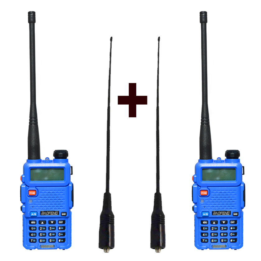 Image 4 - 2 pcs Baofeng UV 5R Radio set Walkie Talkie UV 5R UV5R two way radio station Transmitter with Female soft radio antenna 771-in Walkie Talkie from Cellphones & Telecommunications