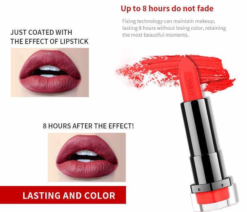 Élégant imperméable mat rouge à lèvres longue durée rouge à lèvres pour les femmes sexy lèvres baume maquillage ensemble nutritif lèvres stick # YL5