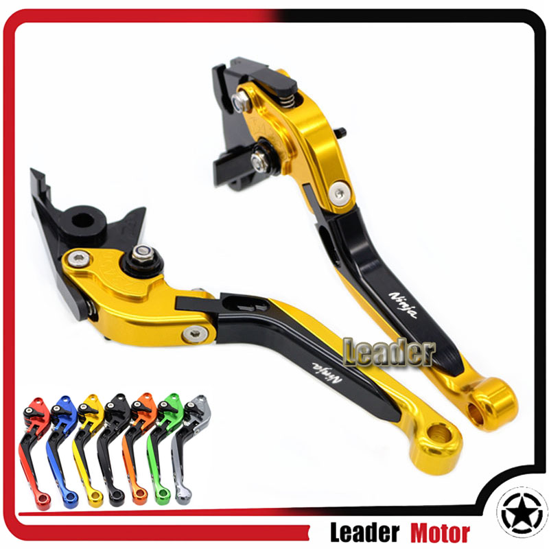 ФОТО For KAWASAKI ZX6R/ZX636R/ZX6RR ZX10R ZZR600 ZX9R ZX12R ZX-6R ZX 636 R ZX-6RR Folding Extendable Brake Clutch Levers Gold