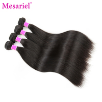 Mesariel Non-Remy Hair Indian Straight Hair Bundles 10-28inch Natural Color 100 Human Hair Weave Free Shipping