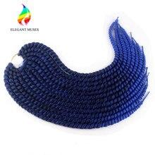 Элегантный Муз 24 дюйм(ов) 120 г/шт. 12strands Ombre Цвета Мамбо вязанная косами 2X твист синтетический Волокно Наращивание волос плетением