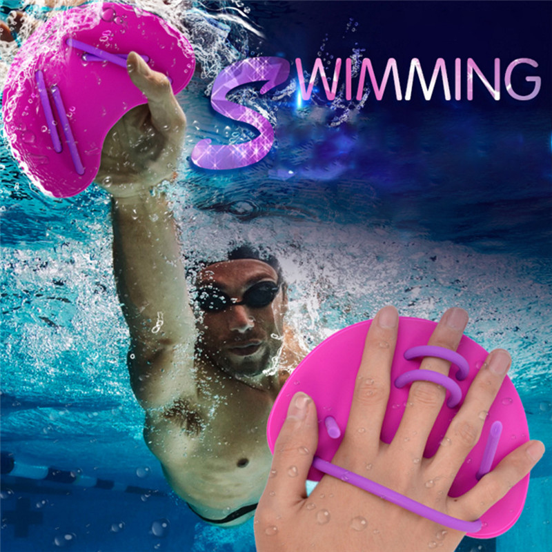 1 Pair Webbed Diving Gloves Skiing Strokes Swim Gloves Surfing Swimming Paddles Training Fingerless Gloves