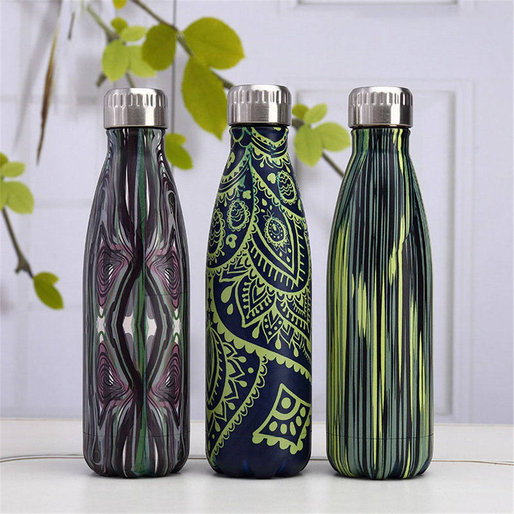 Camouflage BPA free Water Bottle Insulated Cup Stainless Steel Beer Tea Coffee Thermos Bottle Portable Travel Sport Drink Bottle in Water Bottles from Home Garden