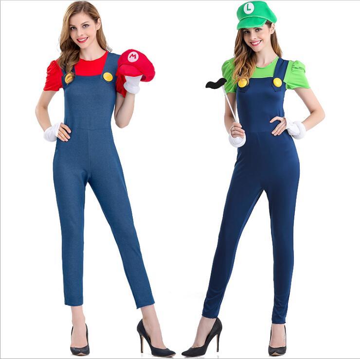super mario costume women luigi costume clothing sexy plumber costume mario bros  fantasia super mario bros costumes for adults 34e7e78ebf3