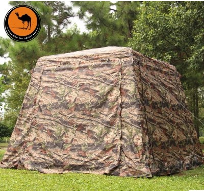 Ultralarge 5-8 person half automatic double layer waterproof windproof camouflage camping tent