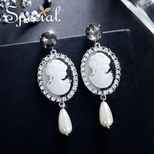 The SPECIAL Brand sterling 925 silver needle  vintage earrings clip on for women 2019 new collction S2015E