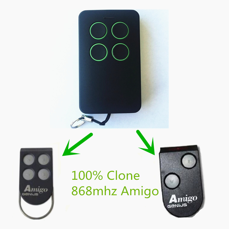 Compatible Genius Amigo Radio control 868 RC Remote Control Transmitter Key fob Free shipping самокат amigo torino sport красный