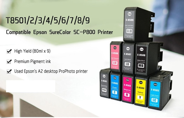 US $110 49 15% OFF|INK WAY Compatible Ink Cartridge for EPSON P800  Surecolor SC P800 T8501 T8509,WITH PIGMENT INK-in Ink Cartridges from  Computer &