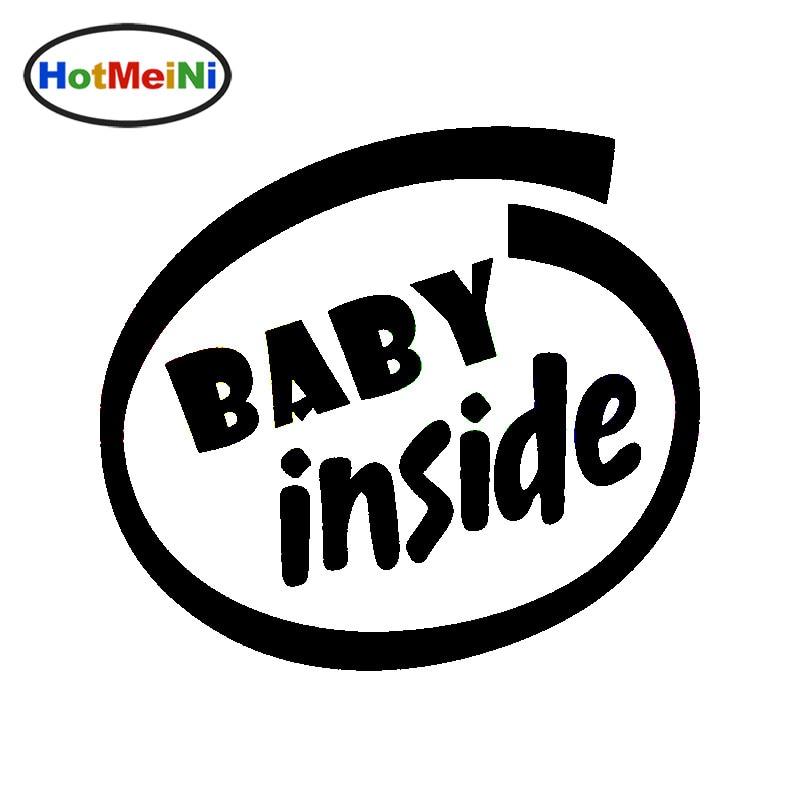 HotMeiNi 12.7 * 11.5 CM bébé à l'intérieur décalcomanies de sécurité bébé à bord famille voiture autocollant vinyle autocollant drôle camion voiture style fenêtre