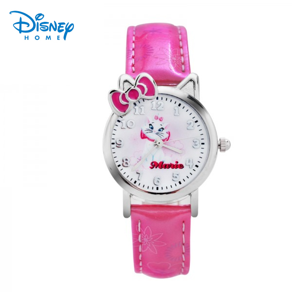 100% Genuine Disney watches Fashion kids sofia cartoon Watch mary cat Luxury Brand Quartz Wristwatches for girl gift 87506