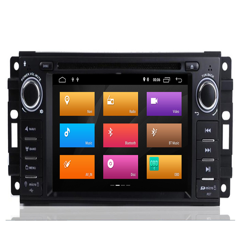 8 Core Auto Radio Android 9.0 Car DVD Player For <font><b>Chrysler</b></font> <font><b>300c</b></font> jeep Compass/Dodge/RAM/Grand Cherokee Wrangle GPS Navi Head Unit image