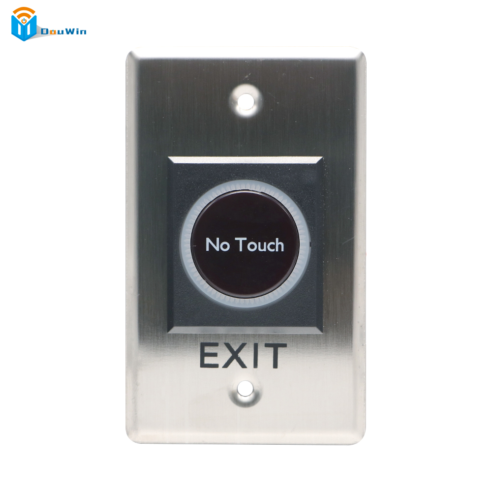 Infrared Stainless Steel Touch Button No Touch Door Exit   Free Switch Sensor with LED Backlight DC 12V  From Douwin no touch exit switch inductive exit button sensor access control dc12v with led indicator f1743d