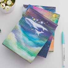 Flying Whale Hard Cover Diary Beautiful Notebook Lined Dotted Blank Papers Journal Memo Notepad Stationery Gift