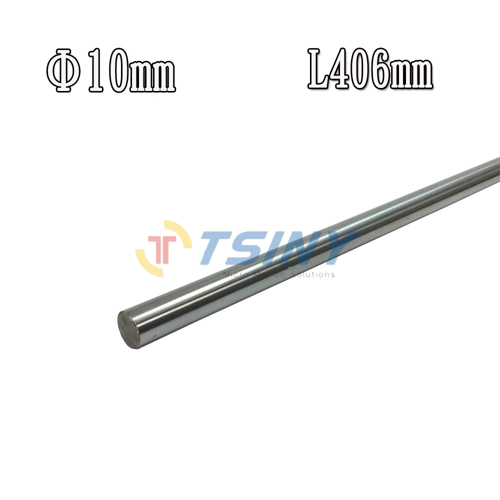D10 L406 Diameter 10mm Length 406mm 45# Steel shaft Toy axle transmission rod accessories DIY axis Chrome Plated axis CNC XYZ 406
