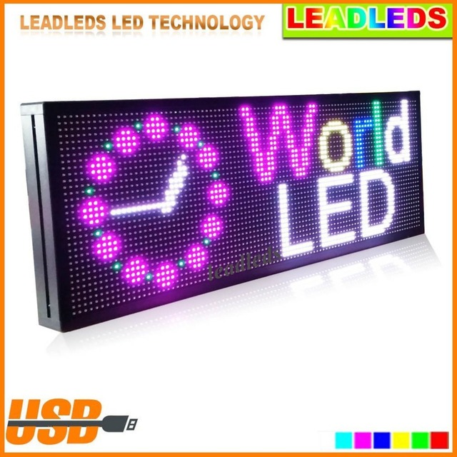X Inches P SMD RGB Full Color Led Display BoardUSB - Car sign with namesonline get cheap d led sign aliexpresscom alibaba group