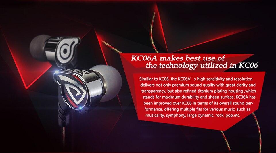 Ostry kc06a alta fidelidade profissional in-ear fones de ouvido de alto desempenho