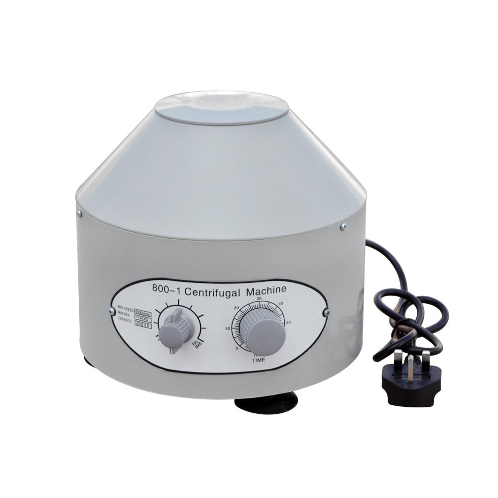 New 220V Electric Desktop Lab Centrifuge Medical Practice 4000rpm 1790g 20ml*6 fresh 20ml