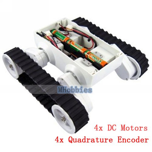 все цены на Free shipping Rover 5 chassis 4WD tank chassis with 4 quadrature encoder settable ground clearance robot tank platform онлайн