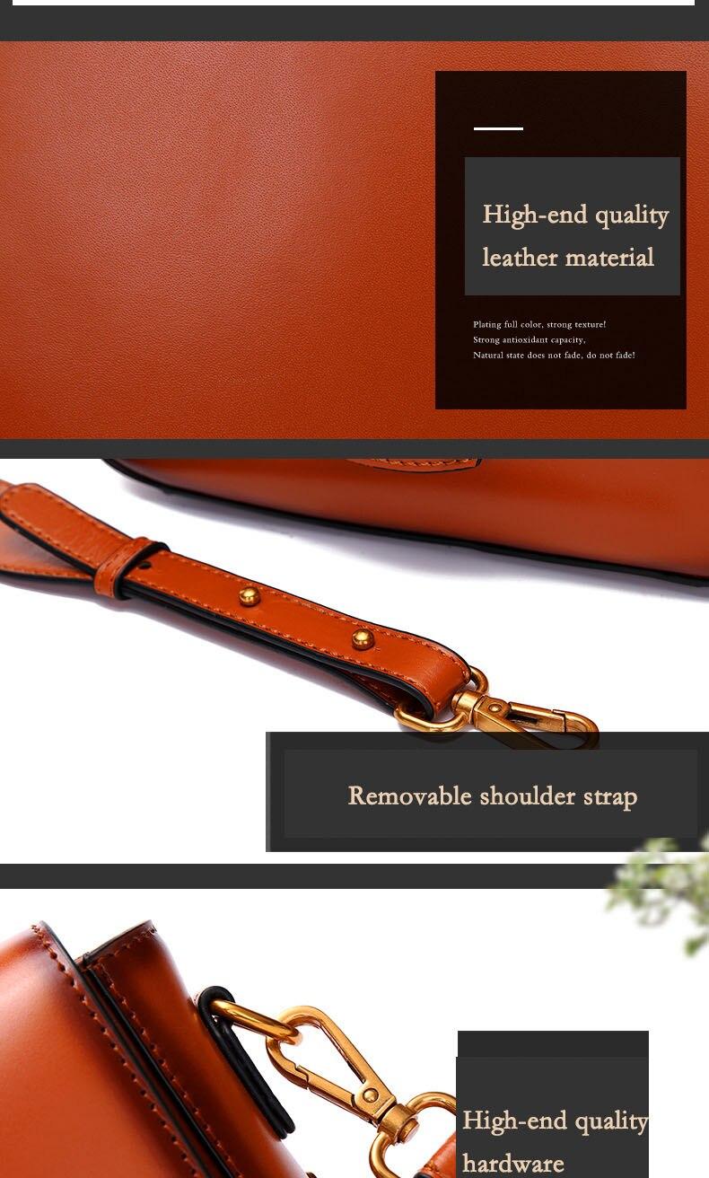Vintage Real Leather Wide shoulder strap Handbag premium quality fashion genuine leather Shoulder Bags of Famous Brand (14)