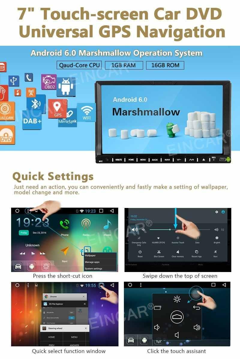 "7 ""2 DIN стерео Android 6.0 автомобилей GPS Навигация Авто Радио стерео Штатная в тире WI-FI Bluetooth громкой связи OBD2 dvd-плеер"