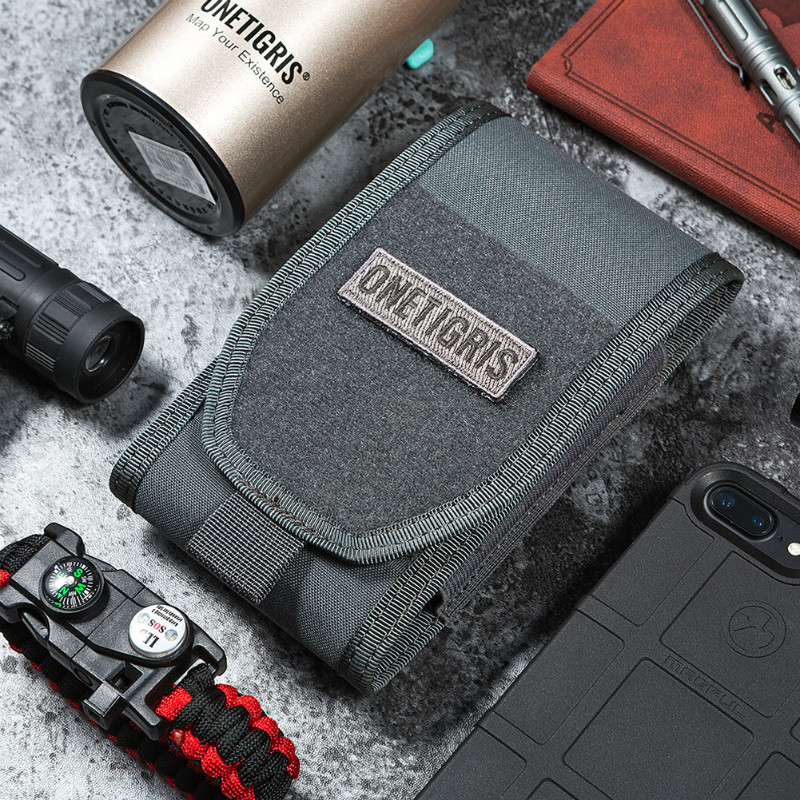 OneTigris MOLLE Tactical Caccia Marsupio Supporto per smartphone Custodia per iPhone6s SE iPhone6 ​​Plus 8Plus iPhone X