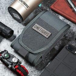 OneTigris MOLLE bolsa de cintura táctica de caza bolsa de soporte para Smartphone para iPhone6s SE iPhone6 Plus 8Plus iPhone X