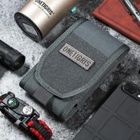 OneTigris MOLLE táctico caza riñonera soporte para Smartphone bolsa para iPhone6s SE iPhone6 Plus 8Plus iPhone X pouch maternity pouch spout pouch purse -