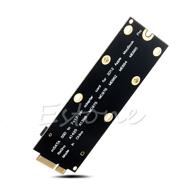 MSATA SSD To SATA 7+17 Pin Adapter Card For MacBook Pro For MC976 A1425 A1398 - L059 New Hot