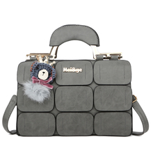 The new spring/summer 2018 women bag suture Boston bag inclined shoulder bag women leather handbags