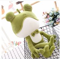 about 60cm lovely cartoon frog plush toy soft cotton doll pillow toy birthday gift s2875