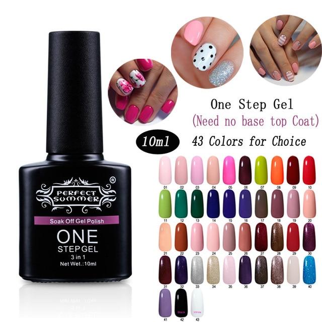 Nail Art One Step Gel Nail Polish 10ml Perfect Summer 3 In 1 (No ...