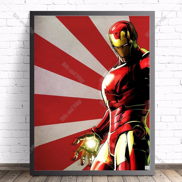 Iron Man Comic Quote Canvas Art Print Painting Poster Wall Picture For Living Room Home Decorative Bedroom Decor No Frame