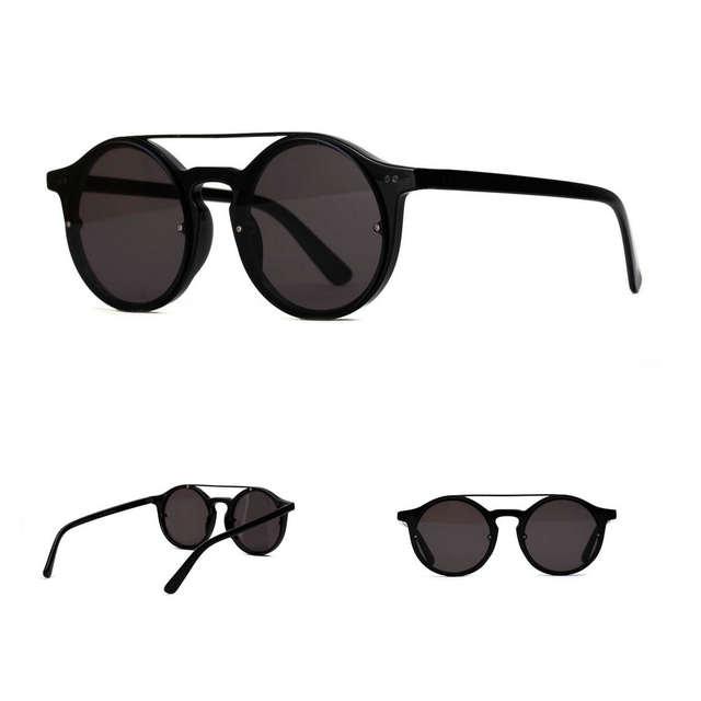 4b609df58a8 MINCL Vintage Double Bridge Sunglasses Women And Mens Retro Hip-Hop  Sunglasses Red Brown