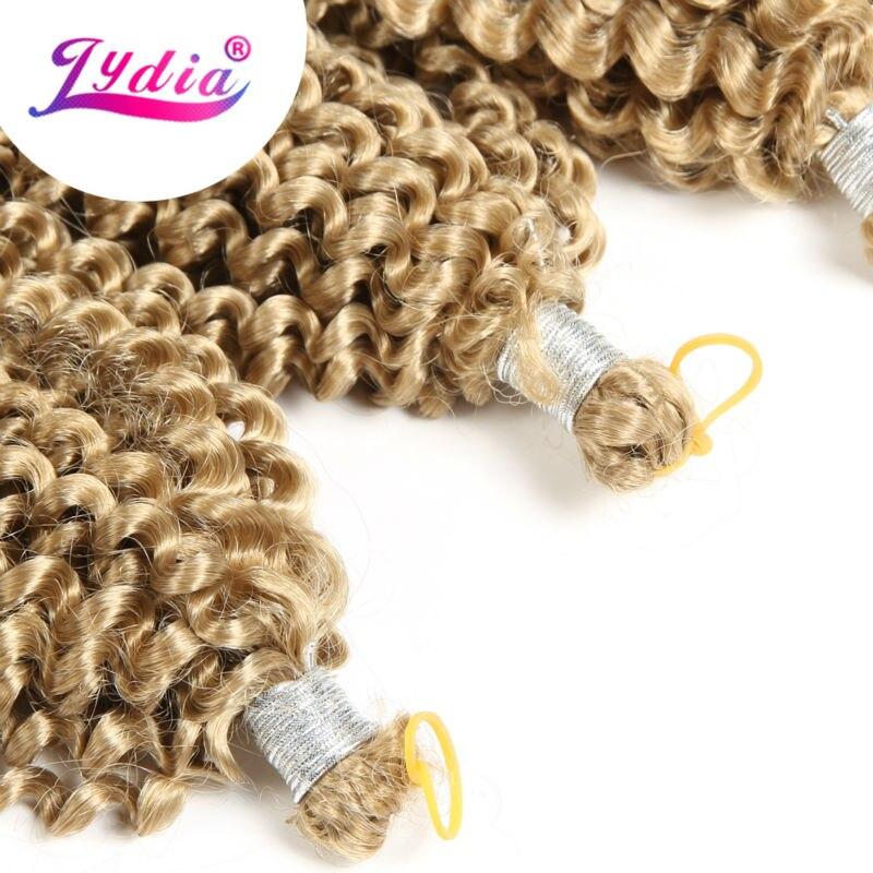 "Image 2 - Lydia Bohemian Freetress Hair Extension Crochet Braid Hair 14"" 3PCS Pure Color Kanekalon Bulk Synthetic Braiding Hair Afro Kinkykinky afrokinky afro hairkinky kanekalon -"