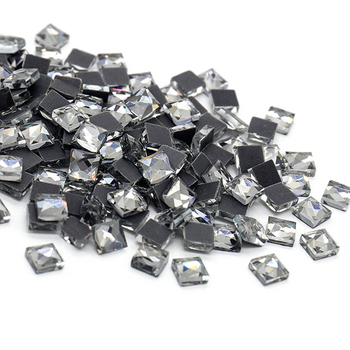 Горячая Распродажа, стразы с черными бриллиантами для горячей фиксации, квадратные Стразы для утюга, Кристальные стразы с клеем на тыльную сторону, стразы для горячей фиксации, хрустальный камень для одежды Стразы      АлиЭкспресс